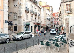 Rua de São João da Praça in Alfama neighbourhood of Lisbon historic centre