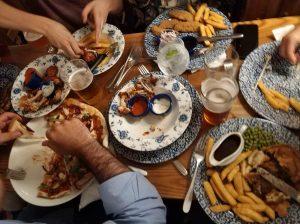 traveling food london friends