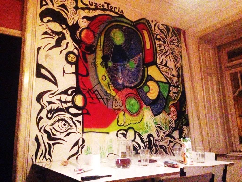 LaGardère recording studio, where friendships come to live. Wall painting urban art graffiti