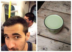 traveling metro london matcha latte
